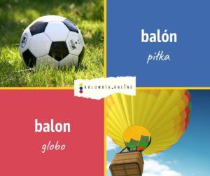 piłka i balon