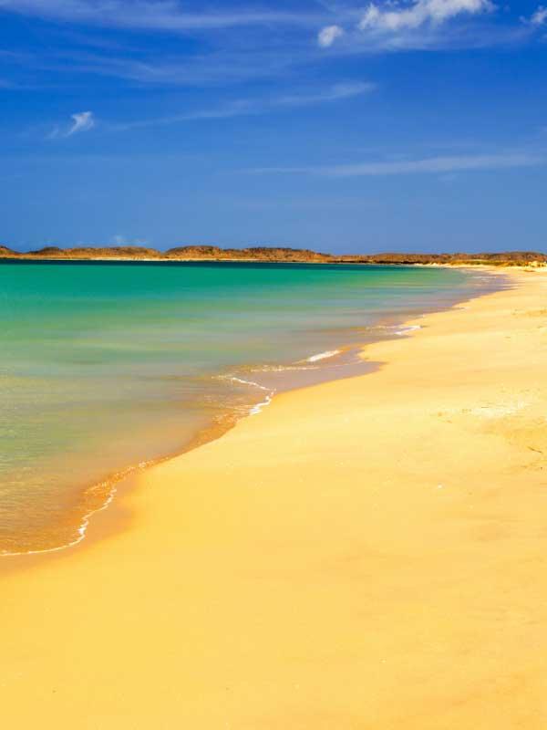 piszczysta plaża z morzem